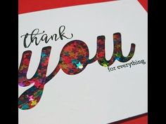 Thank you for everything shaker card with video Shaker Cards, Simon Says Stamp, Everything, Card Ideas, Card Making, Stamp Card, Friendship, Scrapbooking, Big