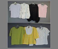 Lot of 6 Vintage Blouses & Beaded Sweater by dandelionvintage