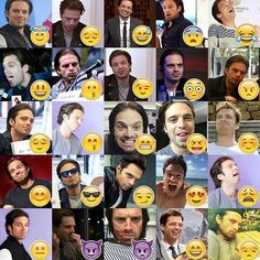 The many faces of Seb- also, can I just have emojis of him?