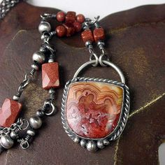 Lace Agate Sunstone Necklace | Flickr - Photo Sharing!