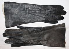 Vintage Women's Kid Leather Gloves Gimbel by ilovevintagestuff