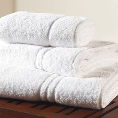 Elegance Towels 100% Cotton  Elegance Towels are 100% Cotton 500gsm white towel with a subtle diagonal chevron header. Suitable hotel towel with the size identified by the number of header bards.