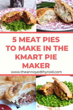 A delicious round up of the pick of the pies to make in your pie maker - choose from chicken, lamb or beef. Curry Recipes, Meat Recipes, Cooking Recipes, Savoury Recipes, Cooking Ideas, Healthy Recipes, Beef And Mushroom Pie, Mini Pie Recipes, Homemade Pie