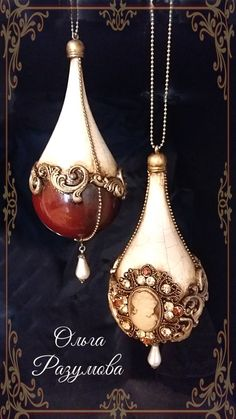 Beautiful baubles vintage Christmas/ New year ornaments