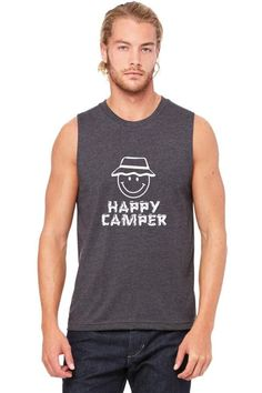 happy camper Muscle Tank