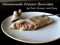 homemade frozen burritos 1