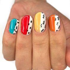 Nail Design Stiletto, Nail Design Glitter, Cute Acrylic Nails, Cute Nail Art, Dope Nails, Fun Nails, Happy Nails, Minimalist Nails, Dream Nails
