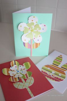 my fabric relish: Easter and spring homemade cards