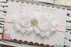 NEW Double Shabby flower headband on a by DanicasChicBowtique, $11.00