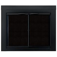 AmazonSmile: Pleasant Hearth AN-1011 Alpine Fireplace Glass Door, Black, Medium: Home Improvement