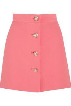 Miu Miu Embellished Cady Mini Skirt