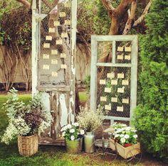 Seeting plan con puertas antiguas. Me encanta!!!