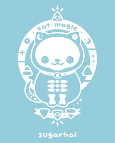 Blue cat magic gif from sugarhai. Click to see cat magic t-shirts and more.
