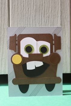 Mater Handmade Card - Cars - Tow Truck - $6.50 - Hoot & Toot's Loot