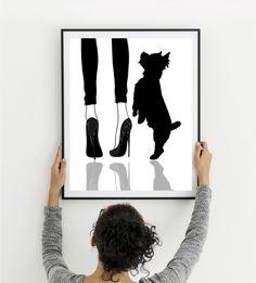 Chihuahua wall art Woman with dog art Dog mom gift High Dog Mom Gifts, Gifts For Mom, Cool Gifts For Teens, Creative Gifts, Creative Ideas, Watercolor Print, Dog Art, Pitbull, Female Art