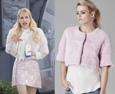 Chanel Oberlin Pink Fur Jacket