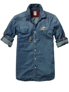 Crispy Poplin Shirt With Fixed Pochet > Mens Clothing > Shirts at Scotch & Soda - $105