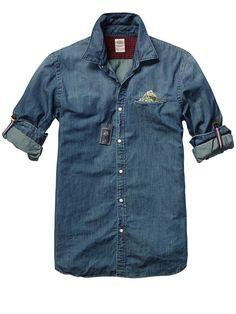 Crispy Poplin Shirt With Fixed Pochet Mens Clothing Shirts at Scotch Soda