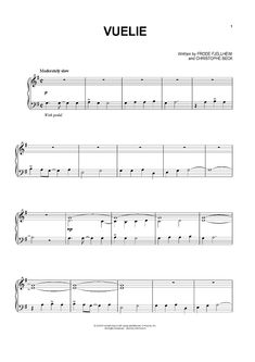 """Vuelie"" from 'Frozen' Sheet Music: www.onlinesheetmusic.com"