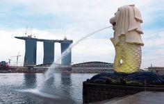 Statue of a lion/mermaid, Singapore