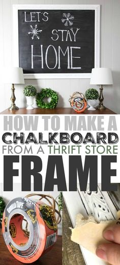 Here's how to make a beautiful thrift store frame chalkboard from all of those beautiful frames you see on old paintings at thrift stores and garage sales! #GorillaTough #GorillaOfCourse #ad