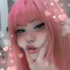Uploaded by Uwu. Find images and videos about pink, aesthetic and anime on We Heart It - the app to get lost in what you love. Edgy Makeup, Makeup Inspo, Makeup Inspiration, Hair Makeup, Soft Grunge Makeup, Makeup Style, Makeup Art, Bijoux Piercing Septum, Emo Girls