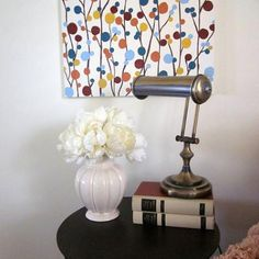 A quick, easy decor idea if you need a pop of texture, color, and pattern!