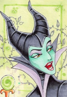 Maleficent--this is a very good drawing!