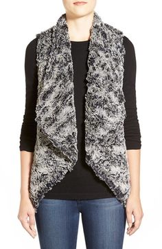 Dylan Draped FauxFur Vest available at #Nordstrom