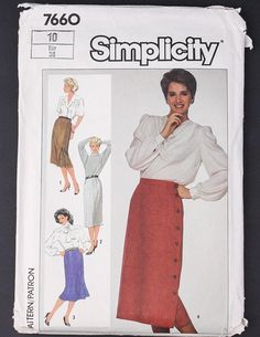 80's Sewing Pattern in my Etsy shop https://www.etsy.com/ca/listing/580420071/80s-simplicity-sewing-pattern-7660-1986