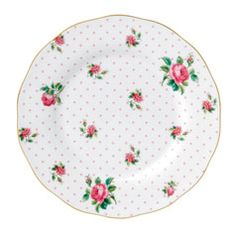 """Royal Albert New Country Roses Cheeky Pink Vintage Salad Plate 8.3"""""""