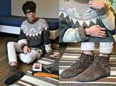 Mujjo Laptop Case, Odd Molly Jeans, Maison Martin Margiela Jacquard Jumper, Tom Ford Two Tone Glasses, Vintage Boots