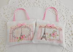 Set Of Two Paris Themed Lavender Sachets by picocrafts on Etsy