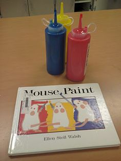 Miss Oetken's Artists: Mouse Paint! Primary colors and color mixing Kindergarten Colors, Kindergarten Art Lessons, Preschool Colors, Teaching Colors, Art Lessons Elementary, Preschool Art, Pre Kindergarten, Teaching Ideas, Mouse Paint Activities