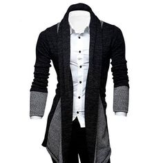 Men's Fashion Cardigan New Men's Fashion Casual Cardigan Sweater The size details is below: (please note ,all the measurement are in CM, 1 M:Shoulder 42 Chest 94 Length 73 Sleeve 43 Chest 98 Length 75 Sleeve 44 Chest 102 Length 77 Sleeve 45 Chest 10 New Mens Fashion, Suit Fashion, Fashion Outfits, Classic Fashion, Fashion Boots, Fashion Black, Cheap Fashion, Fashion Advice, Fashion Rings