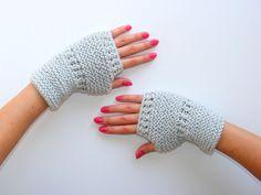 FREE SHIPPING  Gray Glovesready to shippingknit gloves by seno, $25.00