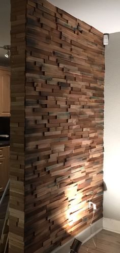 This is a wall I did from wood pieces :) very easy project