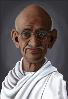 Poster Mahatma Gandhi  art | decor | wall art | inspiration | caricature | home decor | ideas | gift
