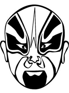 Masks coloring page 6