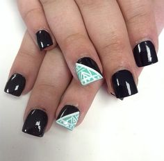 Black teal and white design