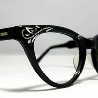 Vintage Cat Eye Glasses Frames Black and by CollectableSpectacle from CollectableSpectacle on Etsy. Cute Glasses, New Glasses, Cat Eye Glasses, Glasses Frames, Glasses Online, Albert Jacquard, Fashion Eye Glasses, Four Eyes, Vintage Cat
