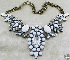 New Design Lady Bib Statement Clear Acrylic Newest Necklace Collar | eBay