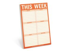 To Do List Notepads | This Week Pad | KNOCK KNOCK