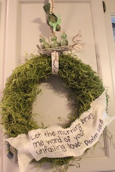 Moss wreath...you can add so much to!