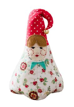 Make this chubby little doorstop as an extra addition to your Christmas decor.She could be Santa's daughter!