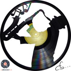 Bill The Saxophonist - Handmade Vinyl Record Art Best Vinyl Records, Vinyl Record Crafts, Vinyl Record Clock, Vinyl Crafts, Vinyl Art, Coffee Filter Crafts, Recording Studio Design, Diy Clock, Music Decor