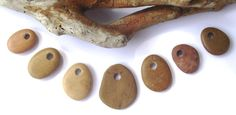 Top drilled beach rock jewelry beads. ECO Jewelry by oceangifts