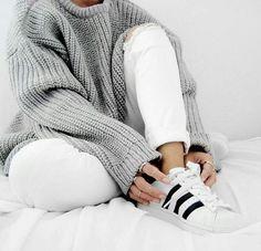 sweater / white / adidas