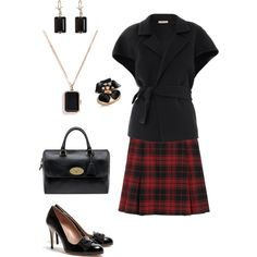 """Red plaid"" by jossiebristow on Polyvore"