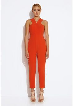 Shatter Cut Out Jumpsuit - Tiger Lily